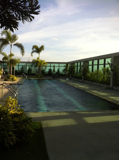 Photo of the rooftop pool on the 41st floor.
