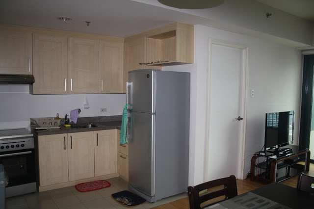 Photo of our kitchen area in One Rockwell East tower