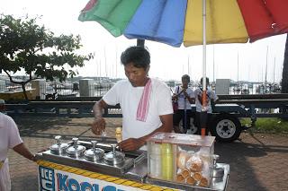 Photo of local ice-cream vendor