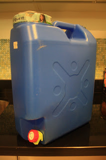 Photo of 4 Gallon blue water container 'with faucet'