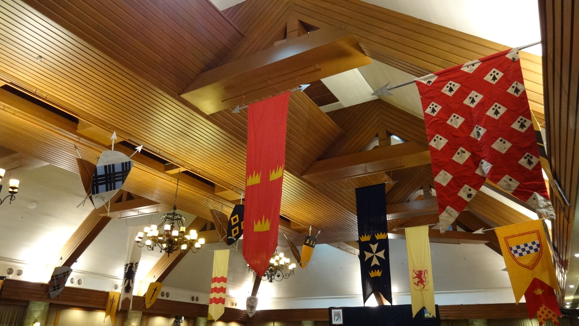 Photo of Scottish clan flags at St Andrews Ball in Manila
