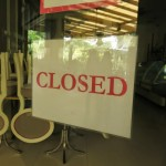 Photo of a closed sign in Manila during Holy Week