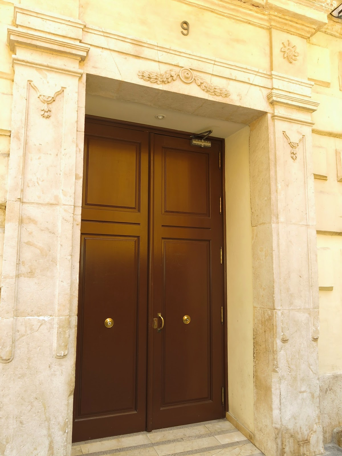 Photo of the front door to our apartment