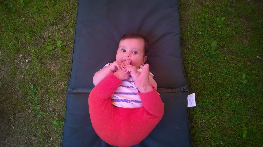 Photo of Eilidh sucking her toes