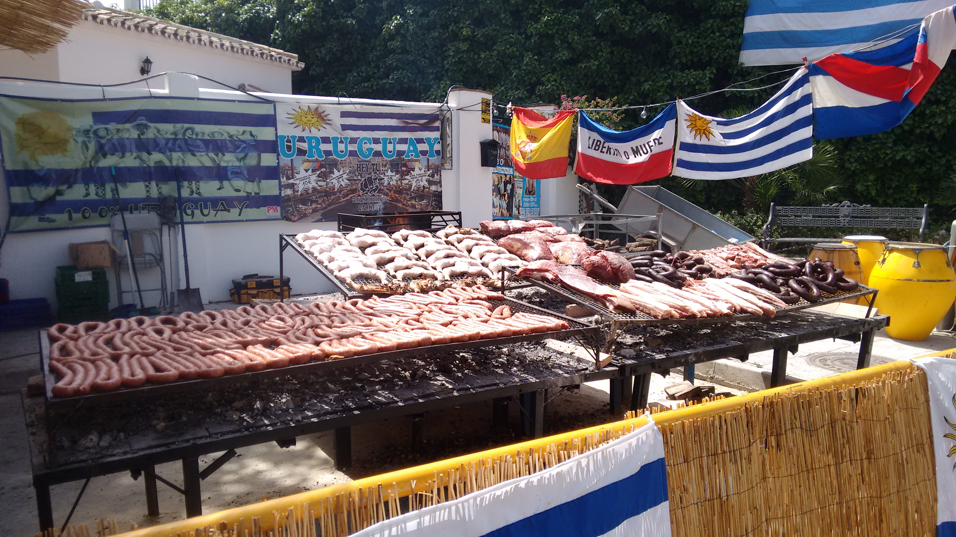 Photo of Uruguayan barbeque at Mijas International Festival