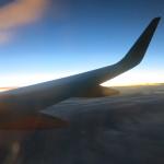 Photo of an aeroplane wing